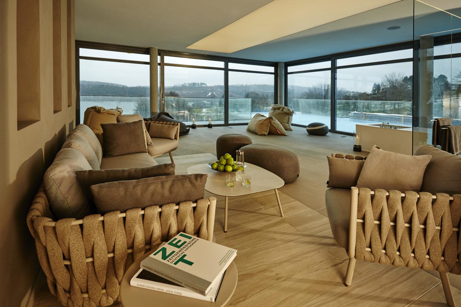 Lounge im Sky Spa